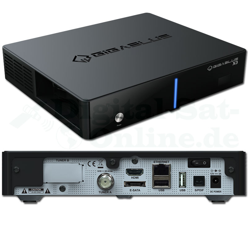 Gi­gaB­lue HD X3 CI+ Linux E2 Full HD HDTV Re­cei­ver USB
