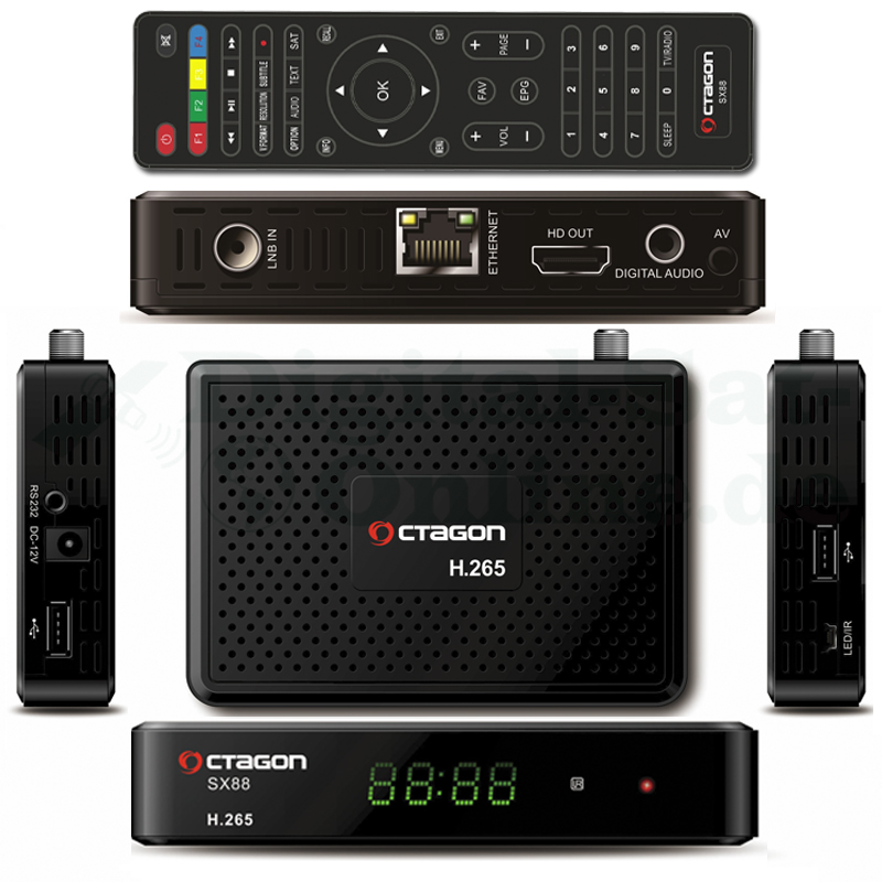 OCTAGON SX88 H.265 HEVC HD DVB-S2 SAT Multistream Receiver
