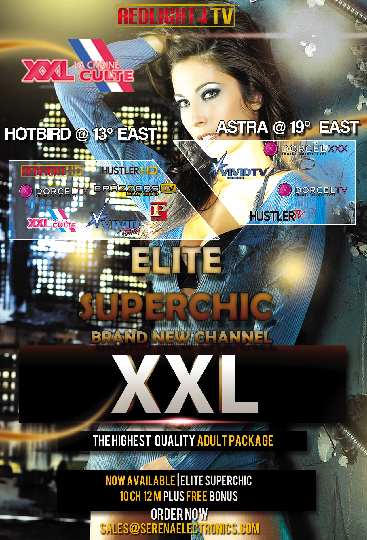 Redlight Elite Superchic 11 Sender Viaccess Card 12 Monate inkl. Brazzers TV