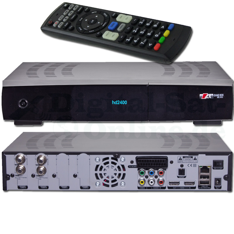 AX Quadbox HD 2400 E2 Twin 2x DVB-S2 Linux Receiver