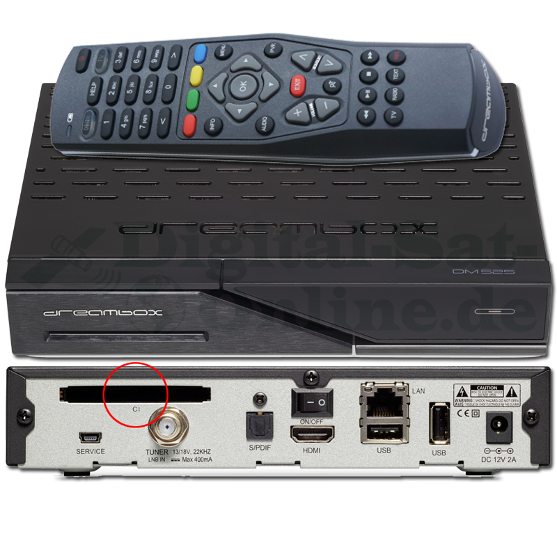 Dreambox DM525 HD DVB-S2 E2 Linux PVR HDTV USB LAN CI Sat Receiver