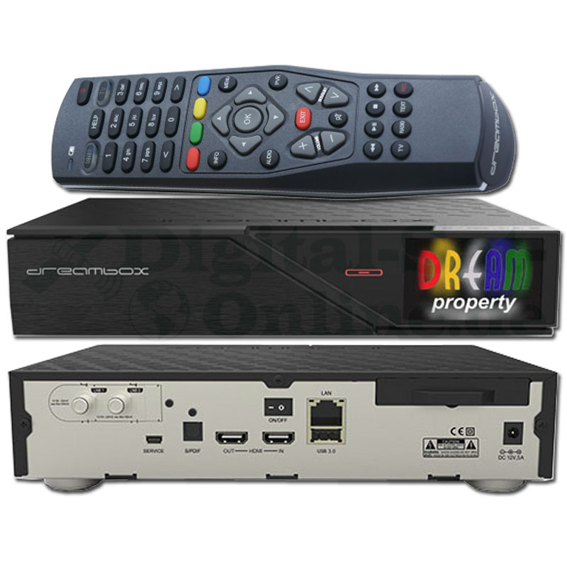 Dreambox DM900 UHD 4K 1x DVB-S2 DUAL Tuner E2 Linux PVR Receiver