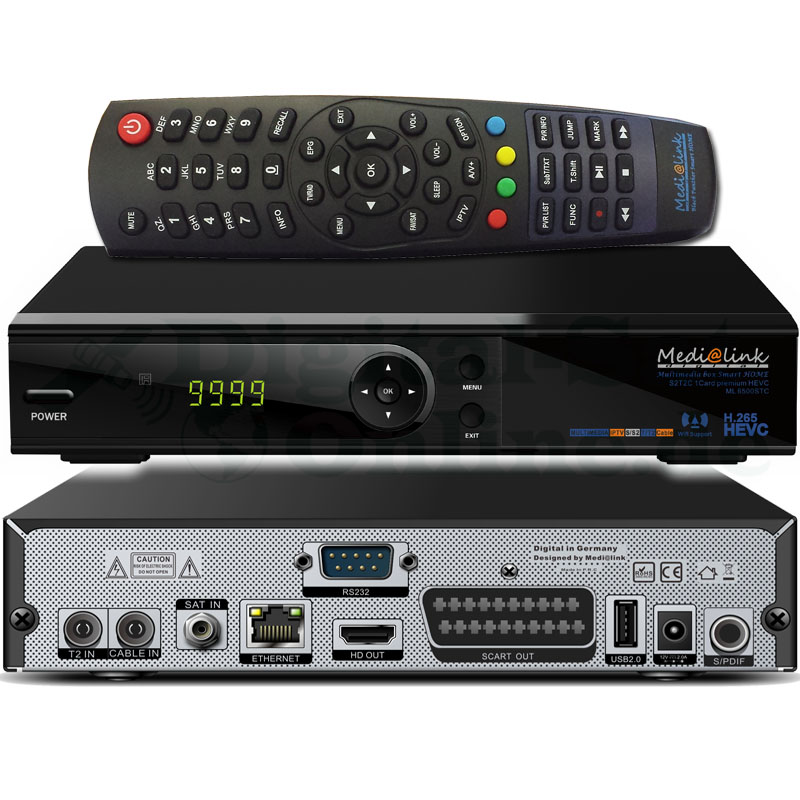 Medialink Smart Home Multimediabox S2 1 Card LAN Full HD COMBO Receiver S2/C/T2 / HEVC IPTV ML6500