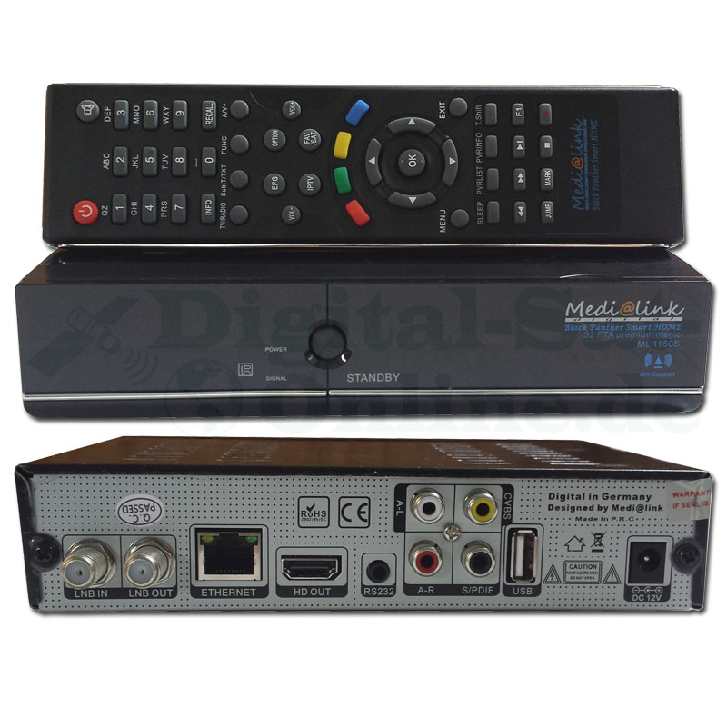 Medialink Smart Home S2 FTA LAN Full HD SAT Receiver / IPTV ML1150S/ML3150