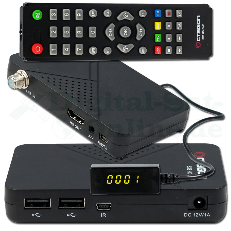 OCTAGON SX8 HD ONE MAGIC Full HD mini DVB-S2 Multistream FTA CA Sat Receiver