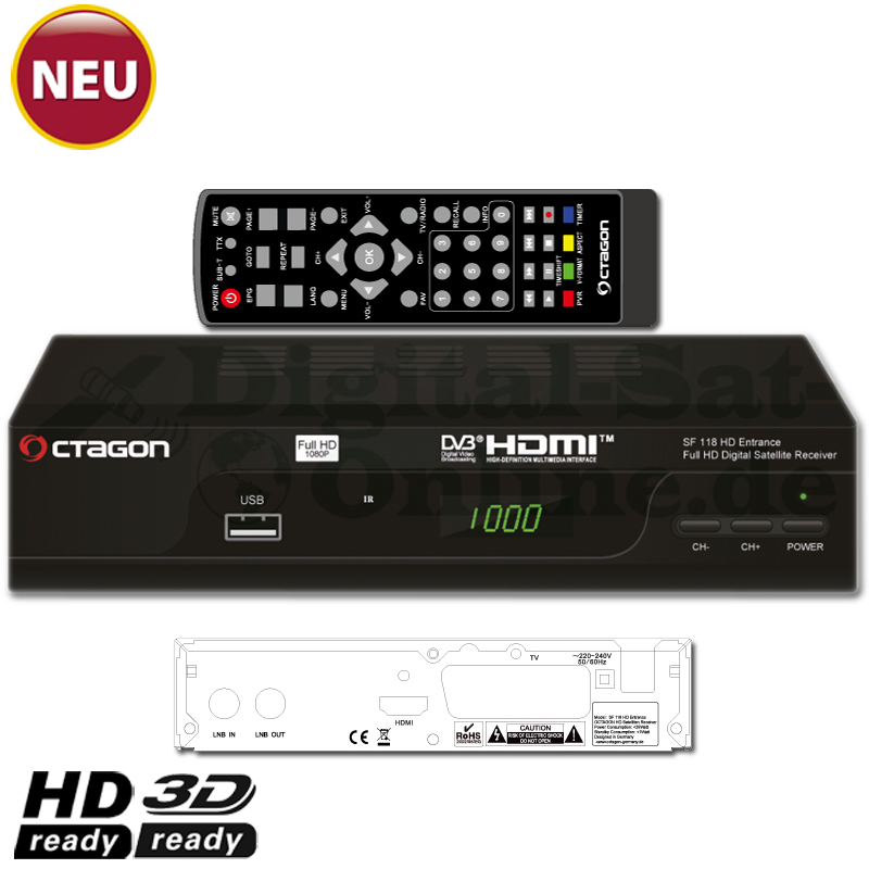 Octagon SF 118 HD USB Sat Full HD Receiver