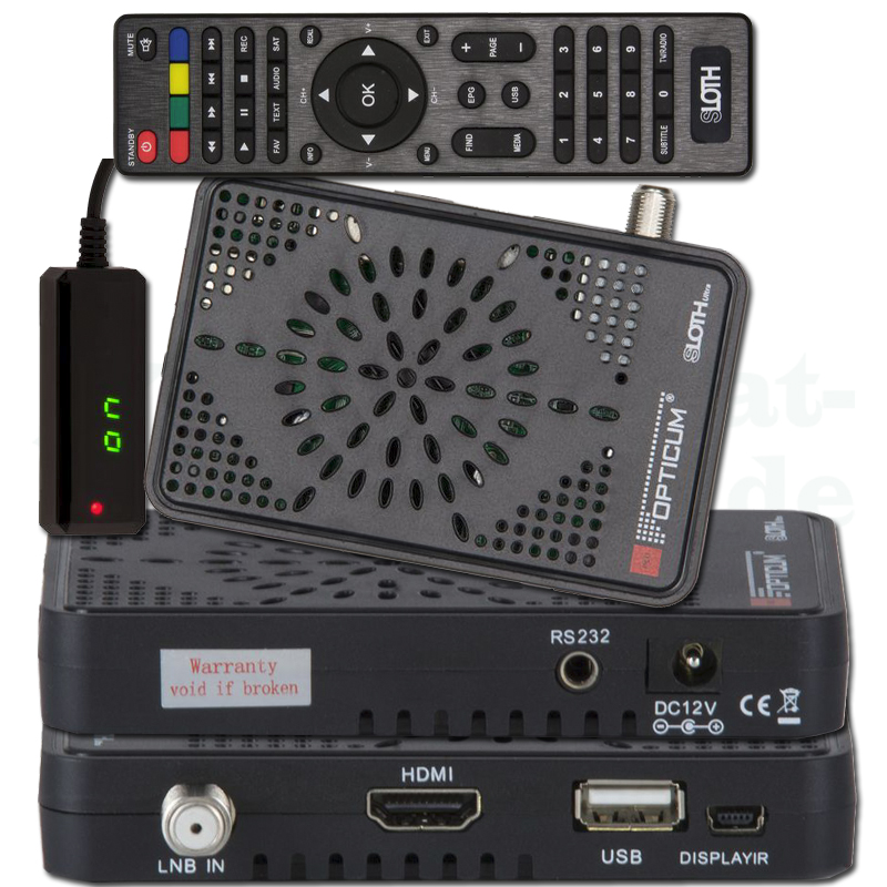 Opticum SLOTH Ultra HD DVB-S/S2 Digital IP Receiver