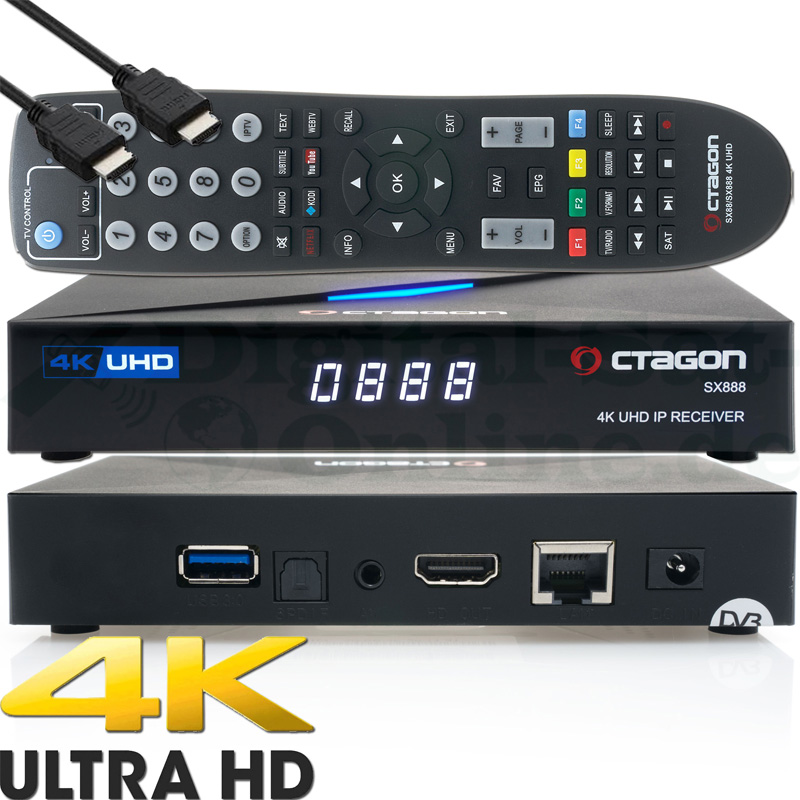 OCTAGON SX88 4K UHD S2+IP Multistream SAT Receiver