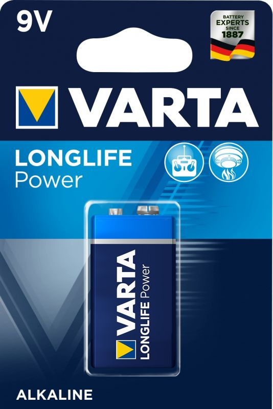 VARTA  9,0V ALKALINE E-BLOCK LONGLIFE POWER Batterie