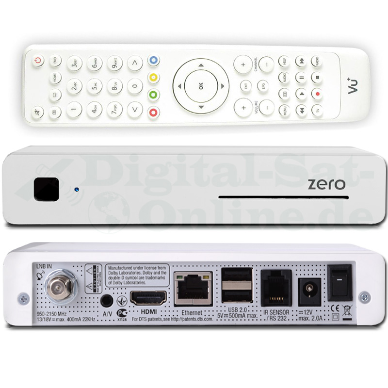 VU+ Plus Zero Linux Full HD Sat Receiver Weiss